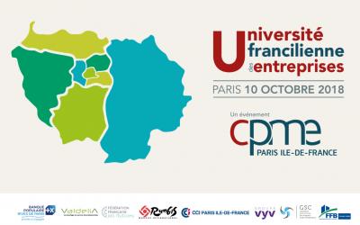 Nous exposons à l'Université Francilienne des Entreprises 2018